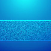 Blue wave horizontal ornamental background. Vector illustration — Stock Vector