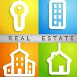 Real estate applique background. Vector illustration. — Stock Vector