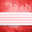 Retro red colored wall with lace — Image vectorielle