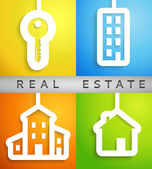 Real estate applique background. Vector illustration. — Stock Vector