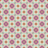 Patrón de colores de flores geométricas abstractas sobre fondo claro. — Vector de stock