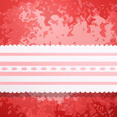 Retro red colored wall with lace — Vector de stock
