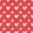 Seamless pattern with hearts. Valentines Day background — Stock Vector