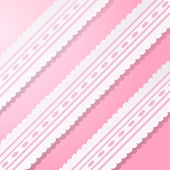 Pink background with vintage white lace. — Vector de stock