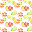 Citrus fruit background. Vector illustration for your fresh juicy design — Stock Vector