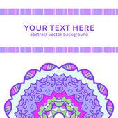 Vintage violet invitation card — Stock Vector