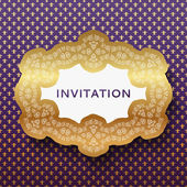 Invitation card. Vintage background with place for text. — Stock Vector