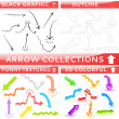 Arrow collection of four different set — Imagen vectorial