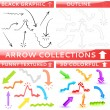 Arrow collection of four different set — Stock Vector