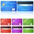 Vector de stock : Credit Card two sides