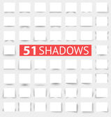 Set of transparent realistic shadow effects — Stockvector
