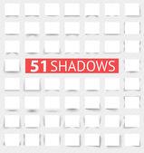 Ensemble d'effets d'ombre réaliste transparent — Vecteur
