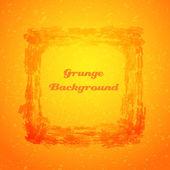 Cadre orange texture grunge — Vecteur