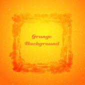 Grunge orange texture frame — Stock Vector