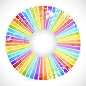 Vintage rainbow round postcard — Stock Vector