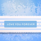 Lace with declaration in eternal love. — Stock Vector