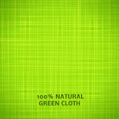 Green cloth texture background — Stock Vector