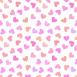 Seamless vintage white heart pattern on pink background. — Stock Vector