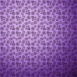 Antique pattern background. Purple seamless wallpaper — Stock Vector