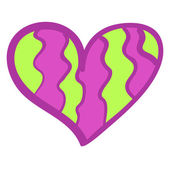 Funny colorful heart background. — Vector de stock