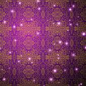 Antique pattern background. Purple seamless wallpaper — Stock Vector