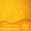 Golden flower seamless background. — Stockvektor
