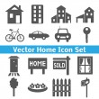 Home icons set. Real estate. — Stock Vector