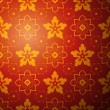 Chinese flower pattern background. Vector illustration — Stock vektor