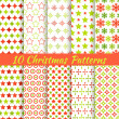 Christmas different vector seamless patterns (tiling). — Stock Vector #31112019