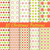 Christmas different vector seamless patterns (tiling). — Stock Vector