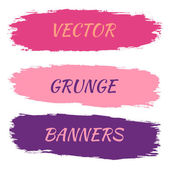 Set of grunge banners. Vector illustration — Stock Vector