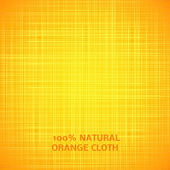Orange cloth texture background. Vector illustration — Stock Vector
