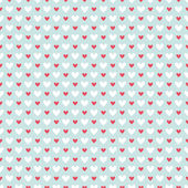 Retro abstract heart seamless pattern. Vector illustration for r — Stock Vector
