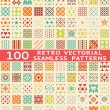 Stock Vector: Retro different vector seamless patterns (with swatch).
