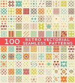 Retro vetor diferentes padrões sem costura (com amostra). — Vetorial Stock