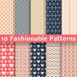 Fashionable vector seamless patterns (tiling). Retro. — Stock Vector #35785093