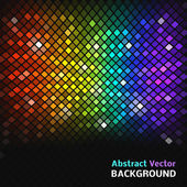 Abstract mosaic rainbow glowing squares. — Stock Vector