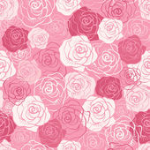 Rose vector seamless pattern. — Vetor de Stock