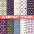 Abstract patterns. Set of vector seamless background — Stockvektor