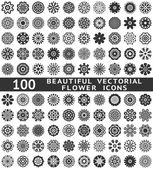 Beautiful abstract flower icons. Vector illustration — Stockvektor