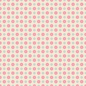 Floral vector seamless pattern with dots (tiling). — Vector de stock