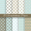 Pattern papers for scrapbook (tiling). — Wektor stockowy  #39613547