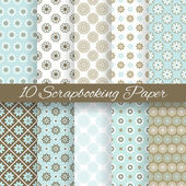 Pattern papers for scrapbook (tiling). — Stock Vector