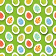 Colorful easter egg seamless background. Vector illustration. — Stock Vector #39723559