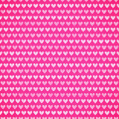 Pink fabric texture with heart seamless pattern. — Stock Vector