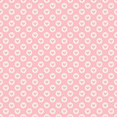 Heart shape vector seamless pattern (tiling) — Wektor stockowy
