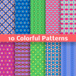 Colorful vector seamless patterns (tiling) — Stock Vector #39917735