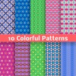 Colorful vector seamless patterns (tiling) — Stock Vector