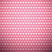 Heart shape vector seamless pattern (tiling) — Stock Vector