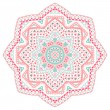 Decorative pink and blue pattern frame — Stockvektor